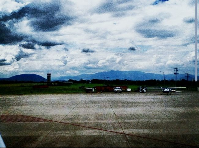 This was taken From An Airplane Window on the Runway at an Airport in San Pedro Sula, Honduras. I love how Dramatic it looks.
