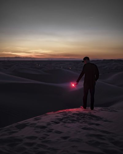 Remember kids, road flares are for emergencies.. and to mess around with when you're bored. Sand Dunes Flare Road Flare