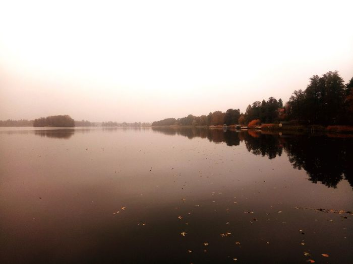 Brandenburg Autumn Water Tree Sunset Lake Reflection Sky