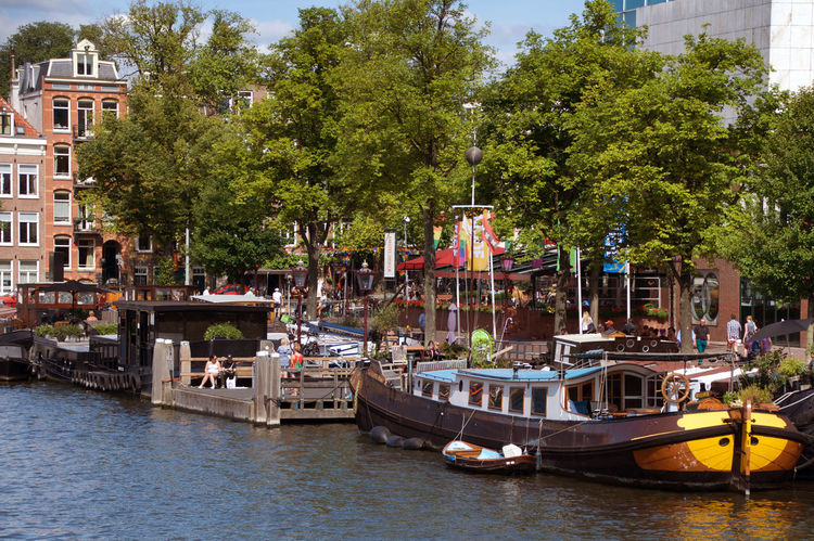 Architecture Canal House Boat Incidental People Nature Nautical Vessel Outdoors Tree #urbanana: The Urban Playground Summer In The City