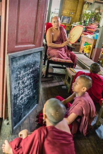 Buddhism Monastery School Myanmar
