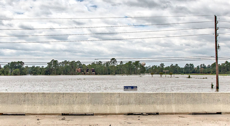 Haunting- A scene after hurricane Harvey. Aftermath Harvey Houston Texas Cloud - Sky Day Haunting  Hurricane Hurricane Harvey 2017 Nature No People Outdoors River Scenics Sky Transportation Underwater Water