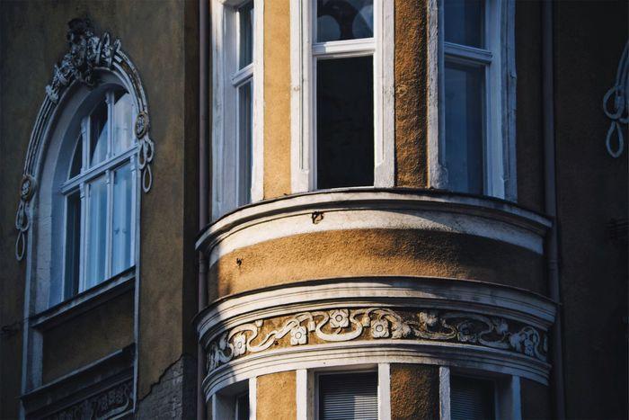 Secession Architecture Sunset Detail Decoration Façade Tenement Houses Art Nouveau Shadows & Lights