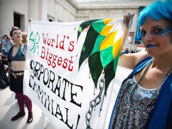 BP or not BP, anti BP sponsorship flash mob at the British museum. 25/09/2016 Olympus Zuiko Steve Merrick Stevesevilempire BP BP Or Not Bp BP Mermaids Sponsorship Flashmob Protest News