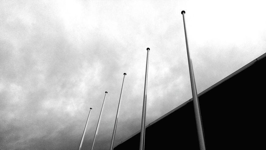 No flags... Urban Geometry Urban Landscape Buildings Grey Sky And Clouds Clouds Germany Glass