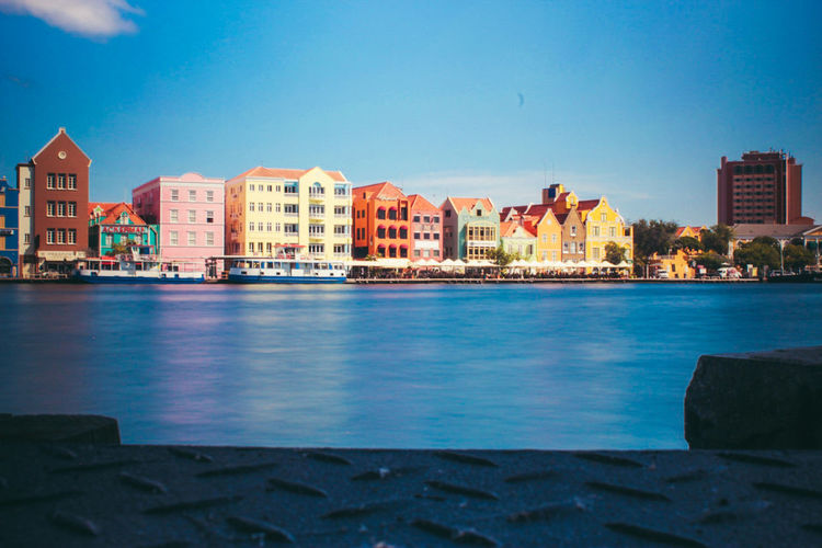 Willemstad Curacao Sea Curacao (willemstad) Architecture Traveling Water Built Structure Punda Curacao Curacao 2017 Modern Downtown District Day Clear Sky