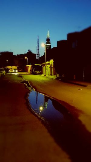 Urban Reflections Night Photography Blue Sky Leyonphotography
