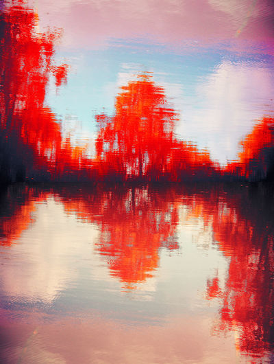 Blood shore ArtWork Artist BLOODY Nature Pond Art Backgrounds Beauty In Nature Blood Cloud - Sky Day Full Frame Lake Lake View Nature No People Outdoors Plant Red Reflection Scenics - Nature Sea Shore Sky Tranquil Scene Tranquility Tree Water Waterfront The Creative - 2018 EyeEm Awards
