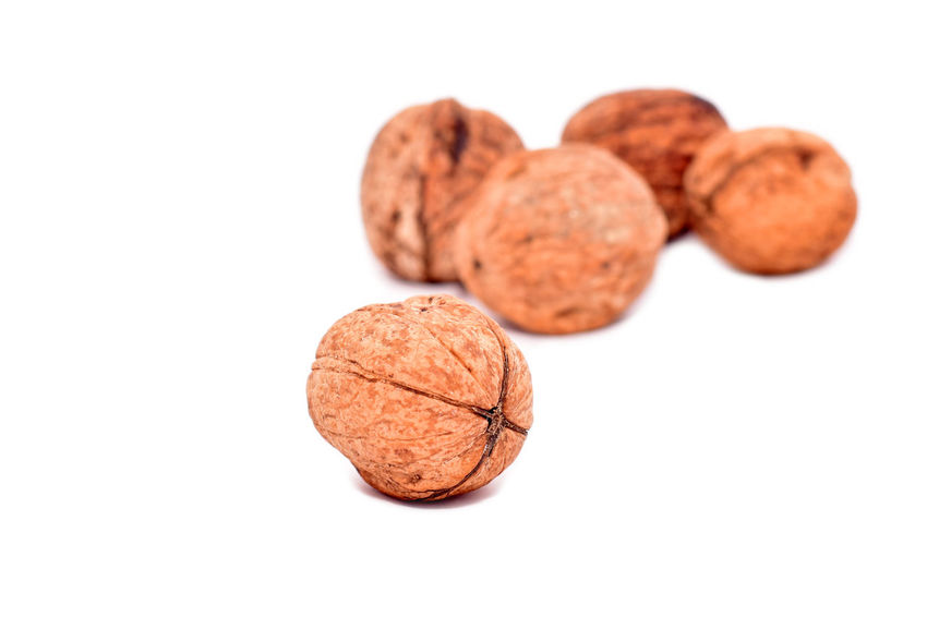 Close-up Dried Fruit Food Food And Drink Freshness Healthy Eating No People Nutshell Ready-to-eat Snack Studio Shot Walnut White Background