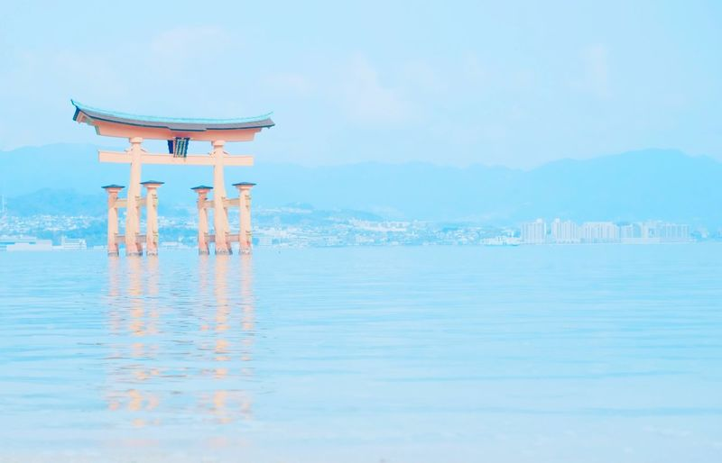 Itsukushima Shrine In Sea