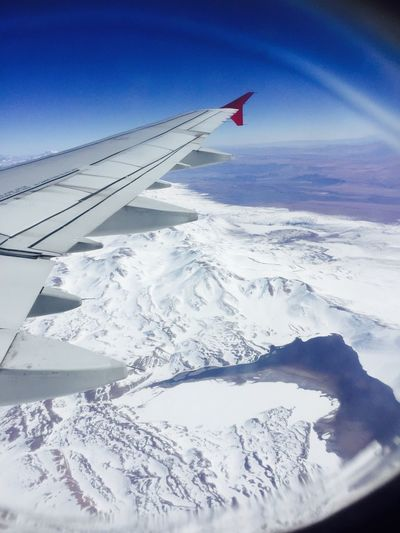 Snow Cold Temperature Winter Airplane Wing Aerial View Transportation Airplane Nature Beauty In Nature Scenics No People Flying Landscape Tranquil Scene Journey Aircraft Wing Day Mountain Outdoors Snowcapped Mountain Cordillera De Los Andes Andes Mountains