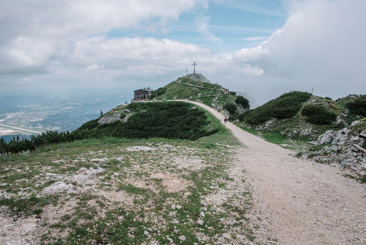 Discover the breathtaking scenery of the legendary Untersberg mountain Austria Hiking Holiday Lifestyle Nature Travel Adventure Beauty In Nature Built Structure Culture Europe Hill Hillside Hilltop Land Landscape Mountian View Nature Salzburg Scenics - Nature Sky Untersberg Untersbergbahn