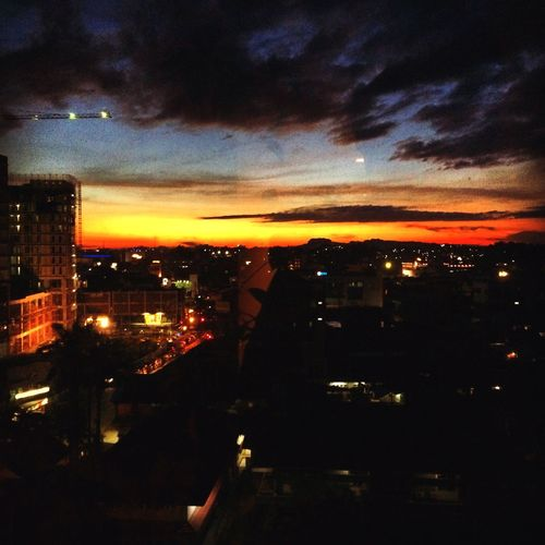 Dusk In The City Twilight in Eastborneo Love Peace & Happiness 😊