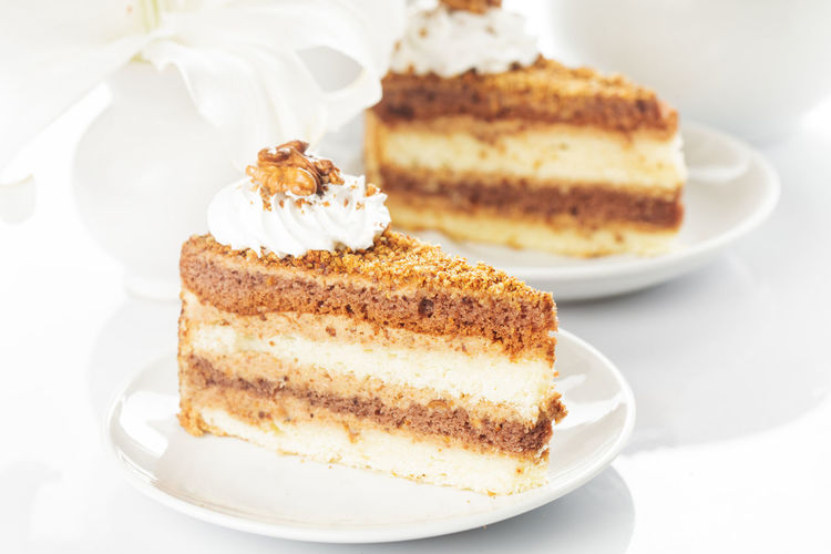 Close-up of cake in plate