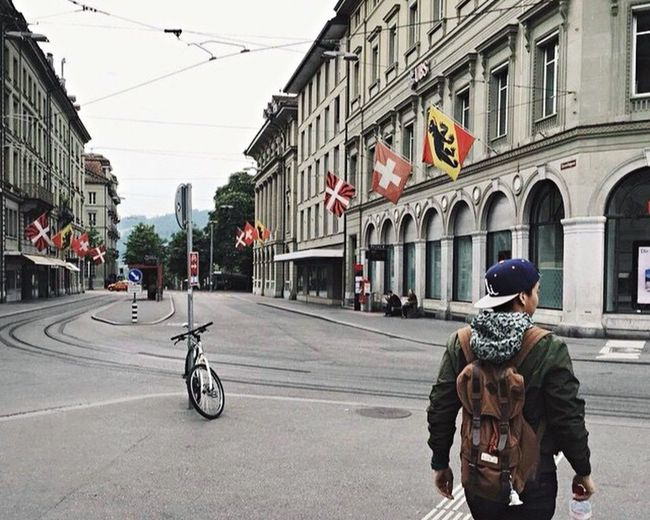 Street City Built Structure Lifestyles Travel One Person Architecture Day People One Man Only Switzerland