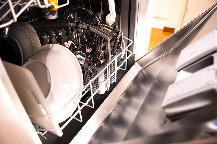 Household dishwasher Dishwasher Chores Cleaning Washer Dishes Machine Dish Washing Home Interior Family Clean Indoors  Metal Close-up Kitchen Machinery Equipment Kitchen Utensil Domestic Room Household Equipment Technology No People