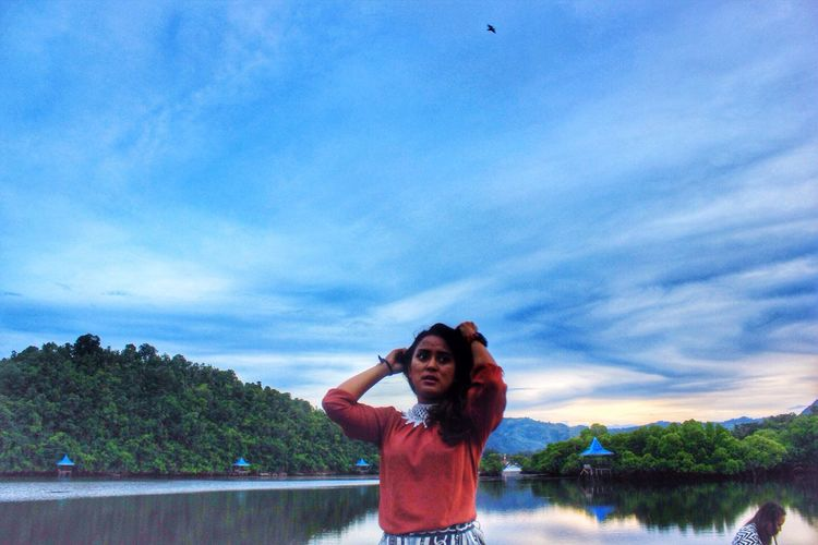 Jayapura LovePapua Sky Water Outdoors Cloud - Sky Day Beauty In Nature Women Young Women Paradise Beauty In Papua Wonderfull Papua Blue Jayapuracity Hamadi