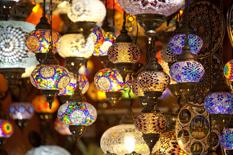 Lamps for sale in the Grand Bazaar Istanbul Turkey Abundance Bazaar Business Choice Close-up Commerce For Sale Grand Bazaar Haggle Haggling Hanging Illuminated Istanbul Lamps Large Group Of Objects Lighting Equipment Market Multi Colored No People Outdoors Tourism Turkey Turkish Vacation Variation