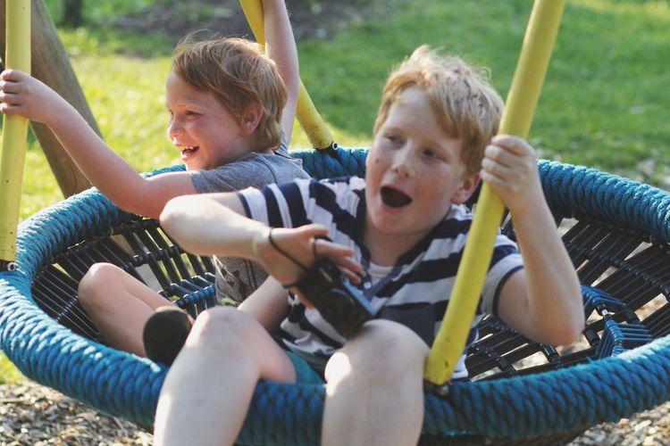 Children playing in playground