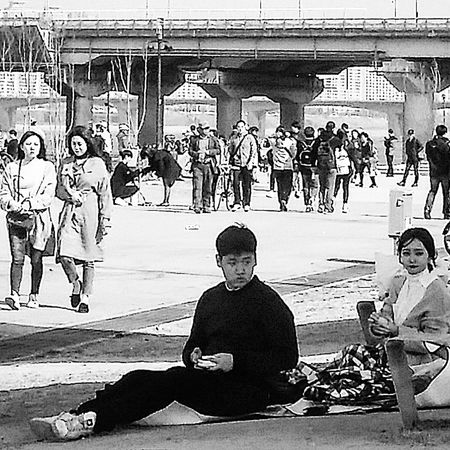Bnw_streetphotography Bnwseoul Bnwphotography Streetphotography Kr_streetphotography Seoul_streetphotography Hangang Park Bnwkorea Yeouido Seoul Spring Seoulspring2017 Southkorea