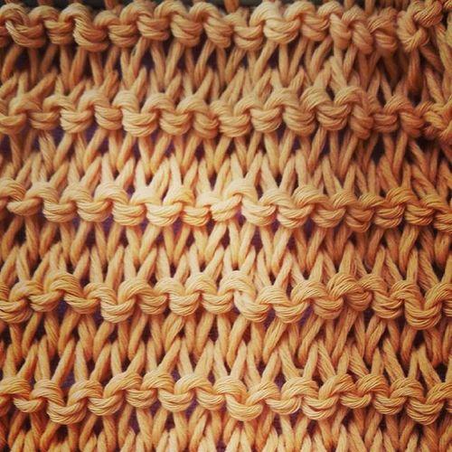 Tricot Knit Knitting Yellow Amarillo Handmade Punto Dosagujas Tatapatata Senshoku