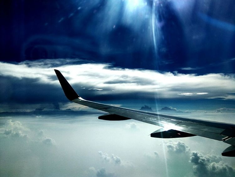 Outdoors Freshness No People Aeroplane In The Sky Aeroplane Window Aeroplane Wing Aeroplane Window View Cloud - Sky