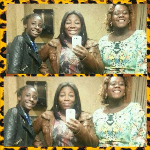 ME, MY LI CUZ AND SIS FOR HER BDAY DINNER