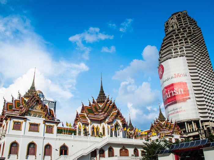 Wat Yannawa, Bangkok, Thailand Architecture Built Structure Cloud - Sky Outdoors Place Of Worship Religion Sky Spirituality Travel Wat Yannawa วัดยานนาวา