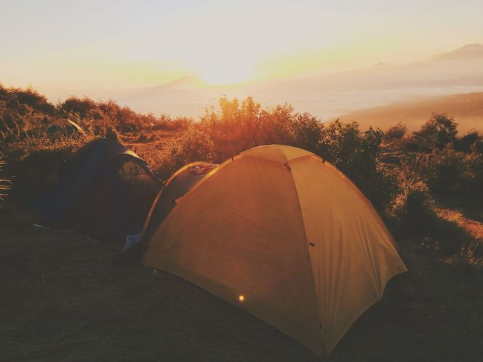 Mood.. Landscape Sunset Tent Nature Camping Travel Travel Destinations Adventure Silhouette Outdoors Tree No People Sky Scenics Vacations Day Horizon Mountain Beauty In Nature Astronomy Irrigation Equipment Canonphotography Sun Nature Tree