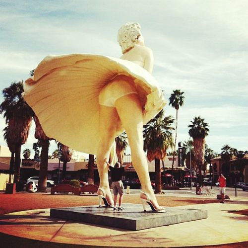 Marilyn Monroe Sunny Day Tourists Showcase: December Palmsprings