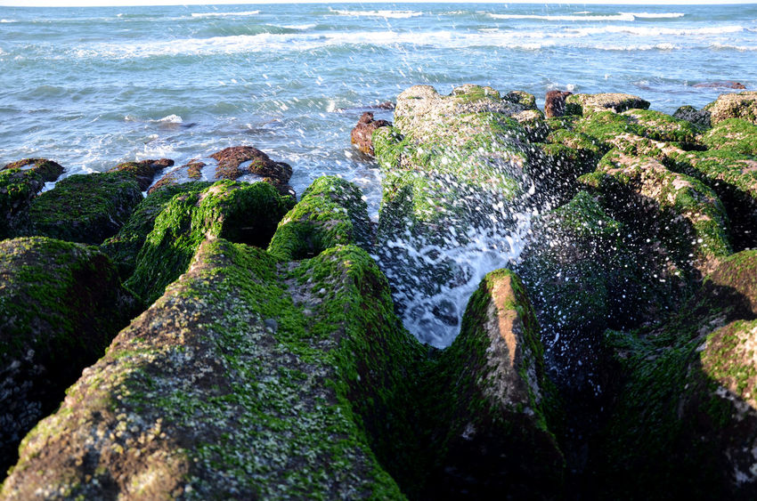 Beach Beauty In Nature Day Horizon Over Water Motion Nature No People Outdoors Power In Nature Rock - Object Scenics Sea Sky Water Wave 台灣 老梅石槽