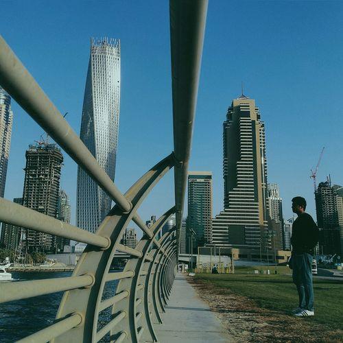 .Dubai Marina. Enjoying The Sights People VSCO Discover Your City Vanishing Point Shootermag Dubai❤
