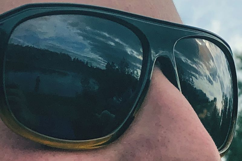 Reflection Glasses Sunglasses Close-up Fashion Sky Nature