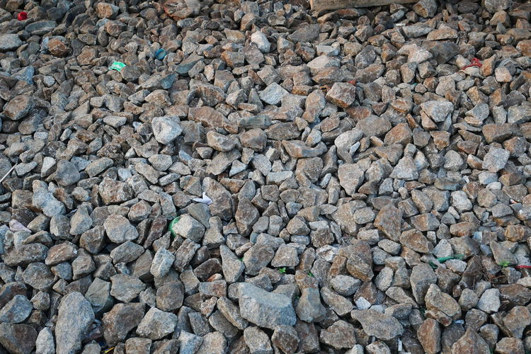 stone ballast for railroad Railroad Track Background Backgrounds Close-up Day Full Frame Nature No People Outdoors Pebble Pebble Beach Stone Ballast Textured