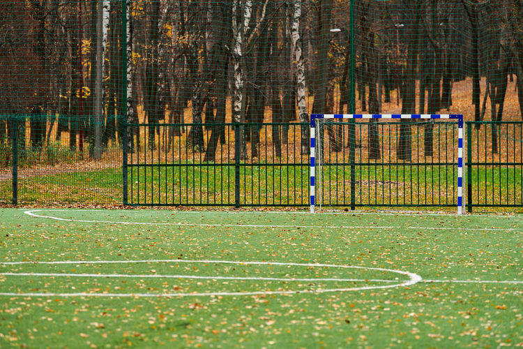 View of soccer field