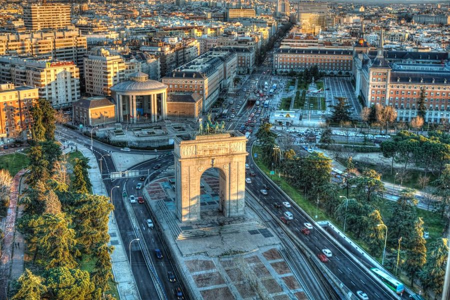Great view from Faro de Moncloa Cityscape View Monument City Travel Destinations Road City Madrid Outdoors Hdr_Collection HDR No People Day Sunset Viewpoint High Angle View City Street