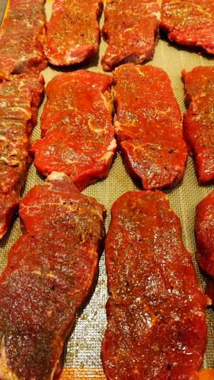 Full Frame Backgrounds Red No People Food Food And Drink Indoors  Freshness Day Close-up Steaks Freshly Seasoned Fresh Meat Rumpsteak