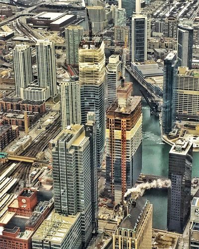 Chicago Chicago Architecture Check This Out Looking Down at the Chicago Loop Chicago Skylne EyeEm Best Shots EyeEmBestPics Willis Tower Willistower Willis Tower- Skydeck Iphonephotography Iphoneonly Skyscrapers Urban Landscape Urbanphotography Urban Jungle