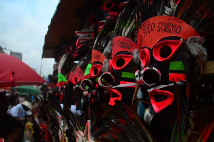 Cebu Color Festival Season Masks Arts And Crafts Sinulog Festival Spirituality Sto Nino Street