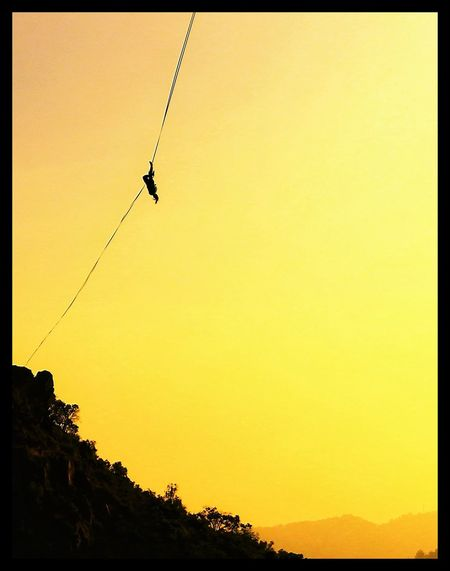 Adventure Club Slackline Highline Longline Cinta Giros Walking Air Sky Exposition Panoramic Landscape Clouds Tricks Sunset Slacker High Exercises  Park Slacklife Relaxing Panoramic Photography Colour Of Life The Color Of Sport