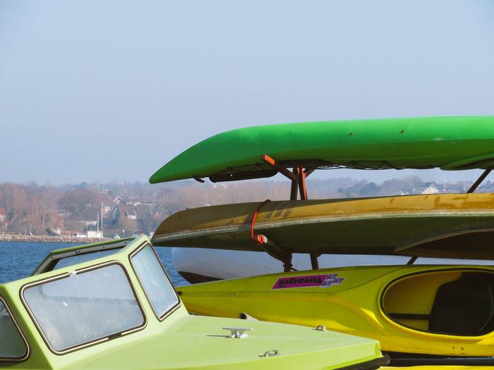 Kayak Boat Colorful Water Sky