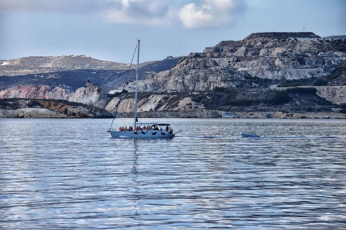 Kimolos Vacations Boat Greece Landscape Outdoors Sea Summer
