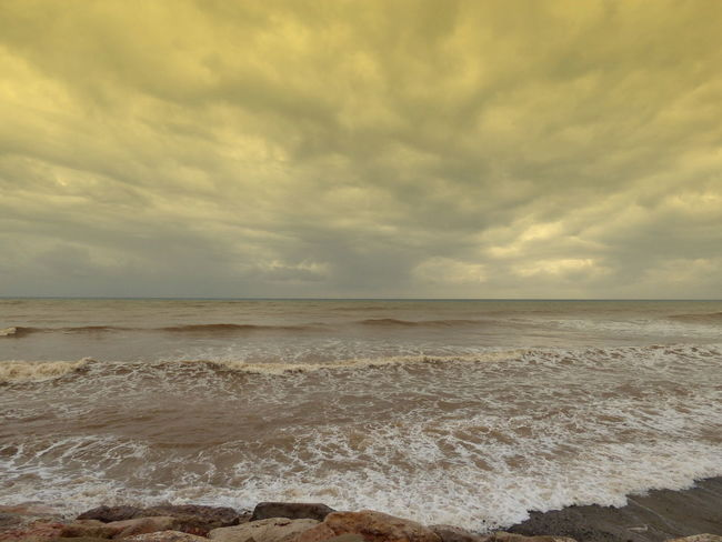 Beach Day Nature No People Outdoors Sand Scenics Sea Sky The Beach And The Sea After The Torrential Rains Water Beach Photography