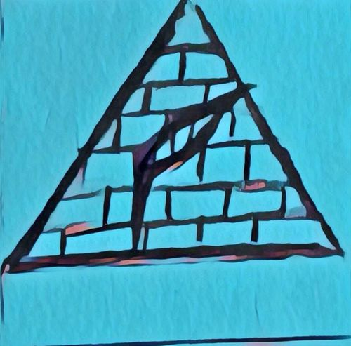 Triangle Shape Shape No People Pattern Day Low Angle View Close-up Indoors