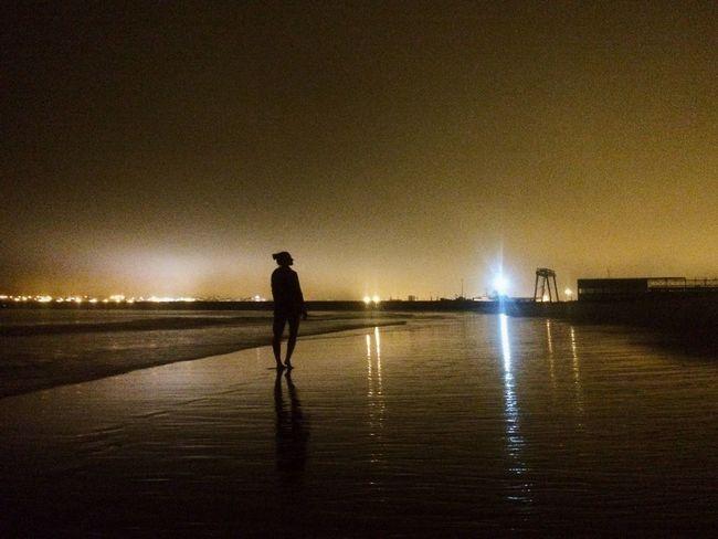 Nightlife in Peniche Peniche Portugal Beachphotography Night Nightphotography Ocean Ocean View Atlantic Ocean