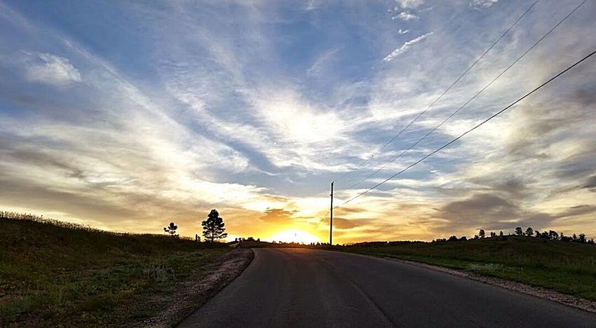 Sunset Landscape Beauty Sun Cloads