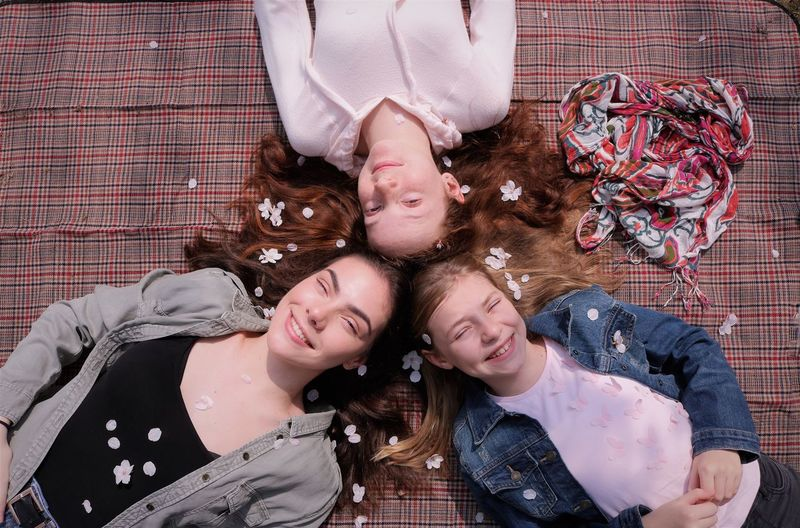 Smiling Cherry Blossom Nymphs Three People Sisters Family Smiling Tranquility Directly Above Bonding Spring Spirituality Cherry Blossom Cherry Blossoms Petal Beautiful Beautiful Woman Springtime Spring Flowers Beautiful Nature Beautiful People Love Friendship Portrait Childhood Petals🌸 Petals My Best Photo