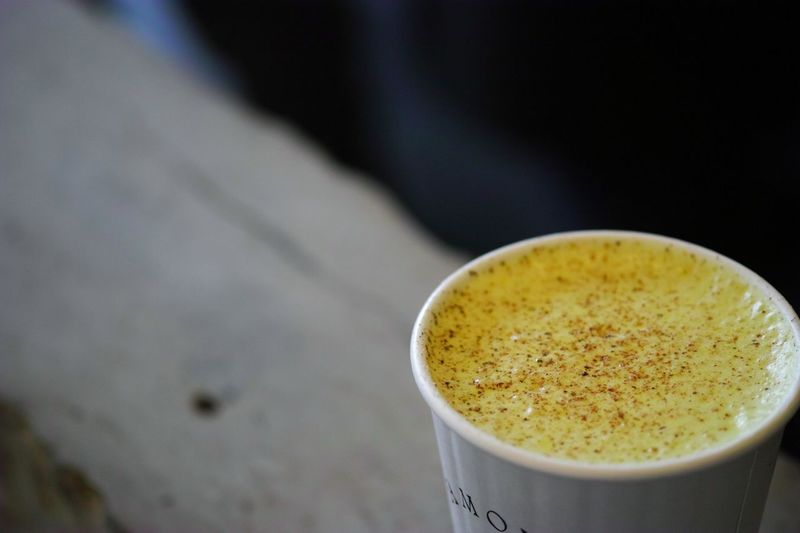 Turmeric Latte☕ ティーラテ ターメリック Tealatte Turmericlatte Turmeric  Latte Samovar Sanfrancisco Missiondistrict Teatime TeaPorn Teaphotography Drink Latte Close-up Food And Drink Hot Drink
