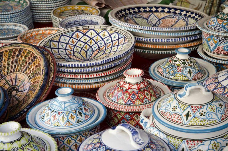 Popular Photos Tunisie Tunisia Bazaar Bowls Colors