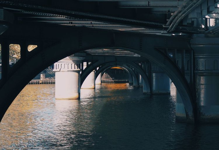 Under the bridge EyeEm Selects Bridge Connection Bridge - Man Made Structure Architecture Built Structure Water Transportation Arch River No People Waterfront Nature Day City Outdoors Architectural Column Underneath Arch Bridge